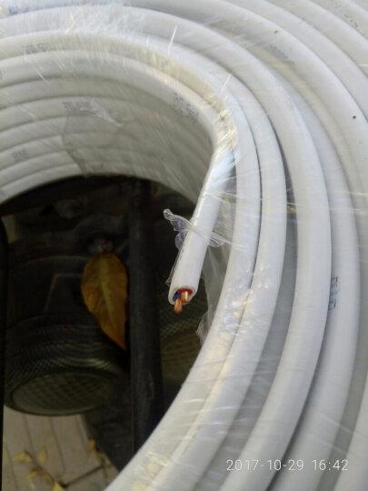 飞雕(FEIDIAO)电线电缆 BVVB2*2.5平方 国标家用2芯硬护套铜芯电线 100米白色 晒单图