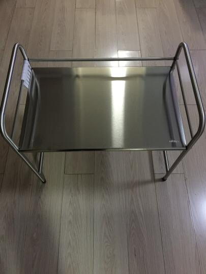 四季沐歌(MICOE) 微波炉架子不锈钢厨房置物架收纳架厨房用品烤箱架 三层53cm长 晒单图