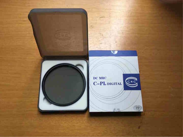 C&C偏振镜uv镜滤镜 DC MRC CPL 77mm 超薄多层防水镀膜个性金圈 偏振镜 压暗天空 消除反光 晒单图