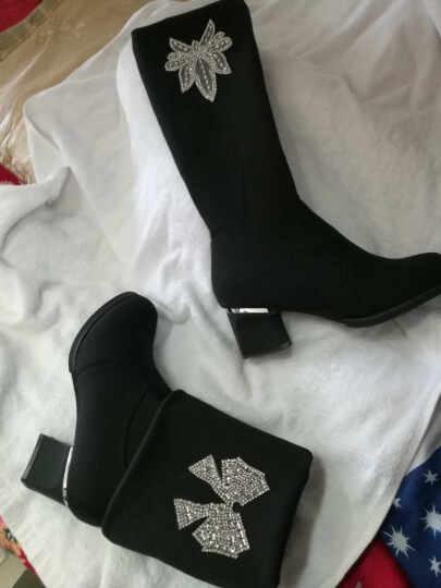 歌亚缇高跟鞋女粗方跟浅口单鞋女中空尖头女鞋时尚性感春秋潮鞋子女 银色JS3333 36 晒单图