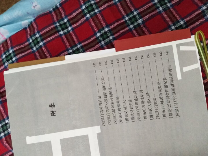 白峰子韩国语语法词典(修订版) 晒单图