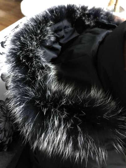 高梵 羽绒服男 2019冬季时尚修身中长款轻薄纯色连帽毛领保暖情侣加厚羽绒外套男 墨绿色 170/M 晒单图
