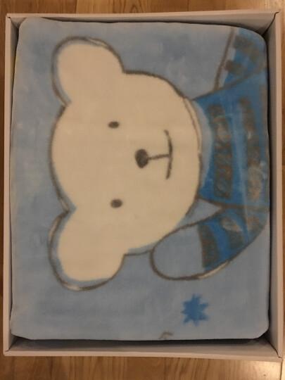 好孩子(gb) 婴儿毛毯冬小宝宝毯子儿童盖毯幼儿园空调毯四季通用 升级款云毯粉双层加厚【帆布包】 晒单图