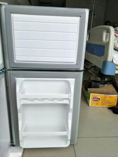 樱花(SAKURA) BCD-102 双门 迷你 小型电冰箱 家用冷藏冷冻冰箱 银色 晒单图