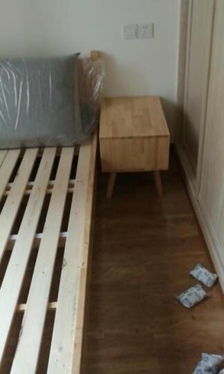 梦琪雅(MENGQIYA) 北欧实木床 现代简约双人床1.5/1.8米 橡胶木日式实木床 默认原木色[米色靠枕]其他颜色请留言 1800*2000 晒单图