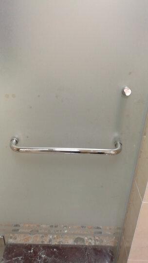 赣春淋浴房不锈钢玻璃门拉手 玻璃门把手浴室扶手门配件25管机弯P型拉手 304  25*225*425 晒单图