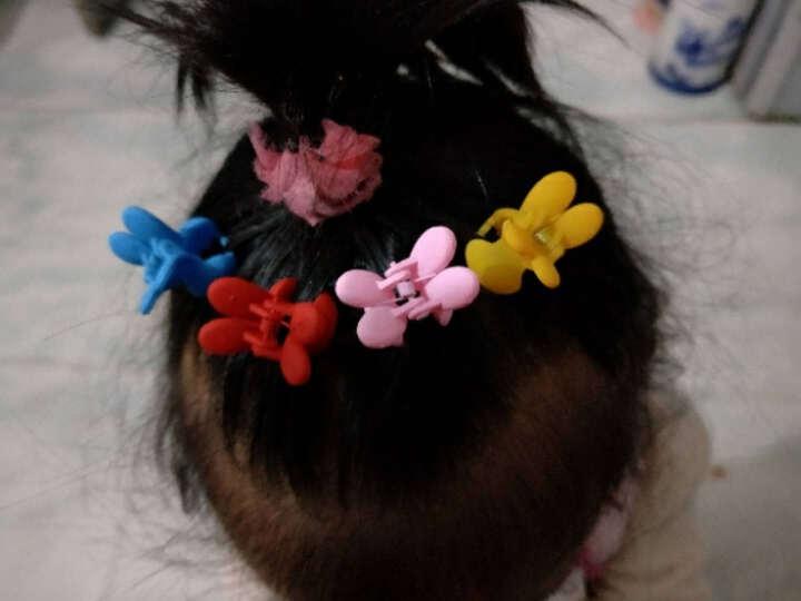 贝士 韩国儿童成人通用饰品甜美可爱宝宝小号抓夹兔子发夹对夹发卡子盘发头饰发抓刘海边夹 肉粉 晒单图