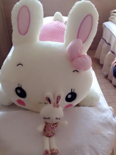唯米 趴趴兔兔毛绒公仔抱枕午睡枕头布娃娃/情侣生日礼物高品质 粉红色 85cm 晒单图