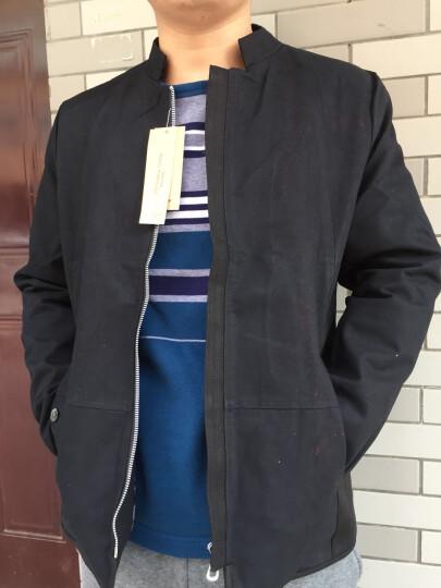 柯衣布 (keyibu) 夹克男2017秋季新款男装韩版修身休闲水洗外套上衣男式JK02 不加绒 黑色 XXXXXL 晒单图