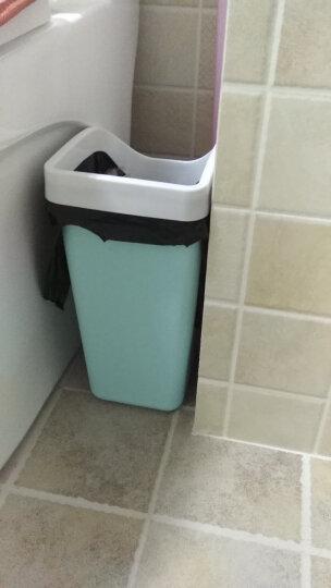 欧式创意时尚摇盖分类垃圾桶 长方形家用有盖卫生间垃圾桶马桶刷 大号垃圾桶+马桶刷北欧灰 晒单图