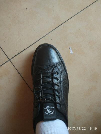 圣大保罗男鞋休闲鞋男秋季真皮男士休闲皮鞋英伦板鞋鞋子男 7347黑色 41码 晒单图