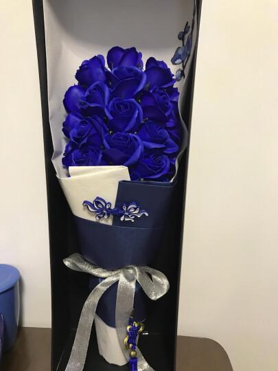 米兹MIEZ 香皂玫瑰花束礼盒装21朵仿真鲜花蓝色 七夕情人节 生日礼物送女友 晒单图