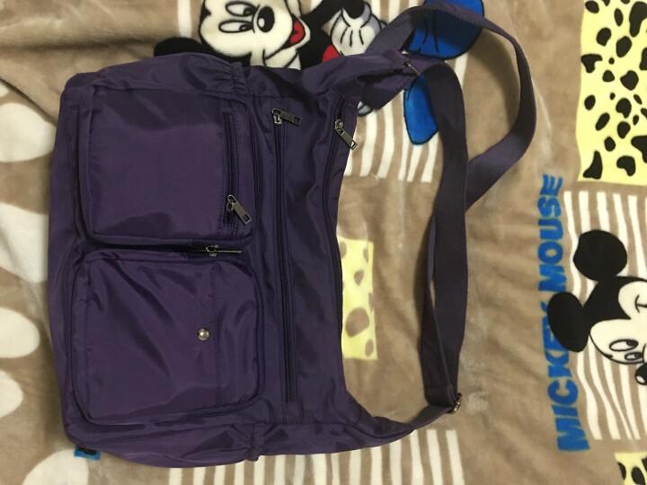 千品鱼新款韩版女士斜挎包轻便休闲包旅行包多口袋实用女包大容量 紫色 晒单图
