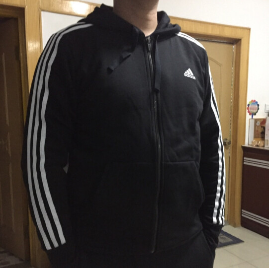 阿迪达斯ADIDAS 2018春季 男子 ESS 3S FZ FT 针织夹克 S98786 L码 晒单图