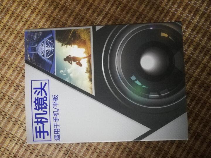 XiHAMA D7手机镜头单反通用外置高清摄像头网红直播瘦脸抖音神器自拍照摄影特效广角微距二合一套装 黑色 晒单图