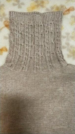 南极人 毛衣女2018秋冬女装新品韩版加绒加厚针织衫女显瘦长袖条纹打底衫女毛衣上衣 HD222 皮红色 均码 晒单图