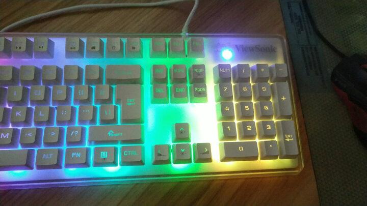 优派 ViewSonic CU3100游戏键鼠套装 机械键盘手感 幻彩背光 19键无冲 白黑色版(白色面板黑色键帽) 晒单图