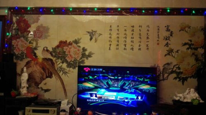 华艺品陶 瓷砖背景墙 陶瓷背景墙 精雕艺术电视背景墙浮雕600釉面墙砖 富贵凝香 阳雕+幻彩/0.1平方米 晒单图