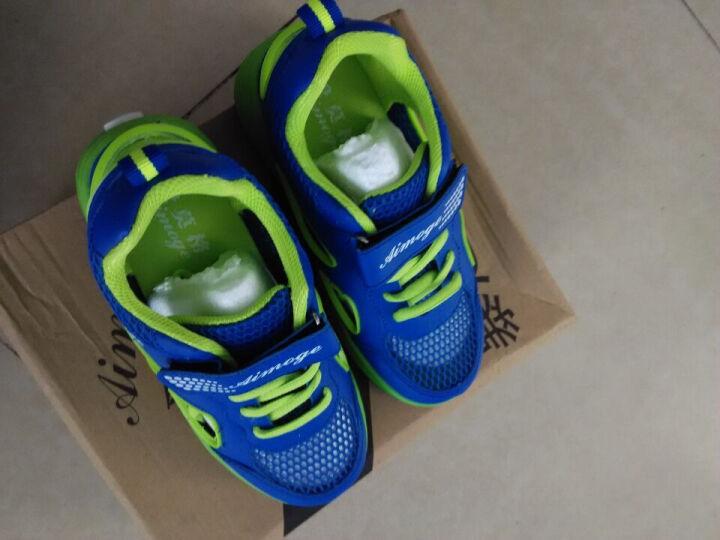 威耐舒暴走鞋男童LED发光鞋儿童运动鞋爆走鞋单双轮女童翅膀有轮子鞋 686宝蓝/双轮 37/23.5cm 晒单图