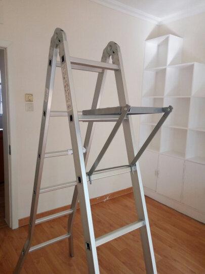 创步(CHUANGBU) 创步家用多功能折叠梯子铝合金加厚人字梯双侧梯六步七步梯登高凳子 加厚款-直梯4米人字梯2米-配扩展工作台 晒单图