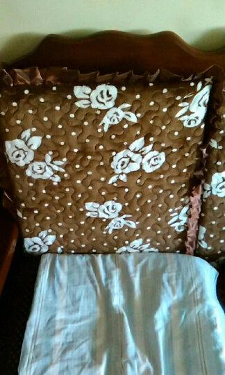 欧莱缦   加厚防滑实木沙发坐垫一座一靠沙发垫 一座一靠兰花心雨 四人200cm 晒单图