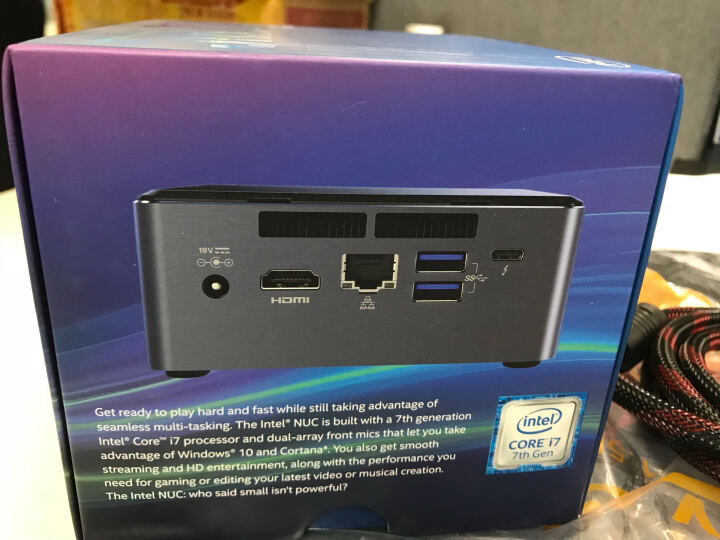 英特尔(Intel) NUC7i7BNH i7-7567U迷你电脑主机 NUC微型计算机 8G内存 + 120G 固态硬盘 晒单图