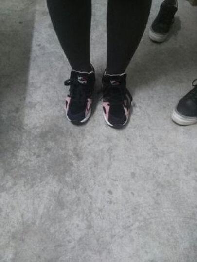 戈美其休闲小白鞋女韩版运动板鞋深口圆头单鞋学生摇摇鞋子2018春季新品 白黑色 38 晒单图