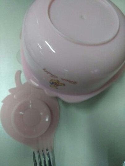 英国泰迪 儿童餐具 婴儿防摔保温碗吸盘碗辅食碗勺套装 宝宝餐具 嫩芽绿-三件套 晒单图