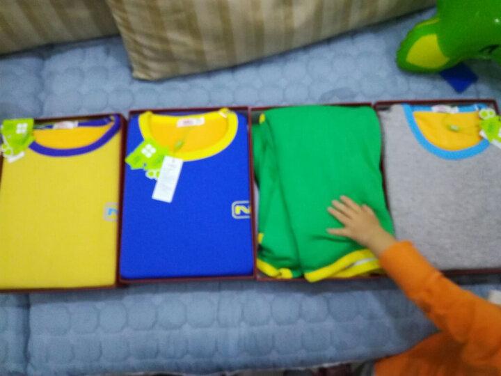 南极人(Nanjiren)儿童内衣 男女童黄金绒暖甲保暖内衣一体加绒加厚秋衣秋裤套装 绿色 160 晒单图