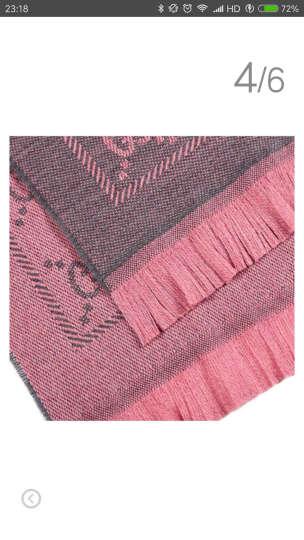 GUCCI 古驰围巾明星同款经典双G图案羊毛针织丝巾披肩围巾 粉墨色  133483 3G200 1272 晒单图