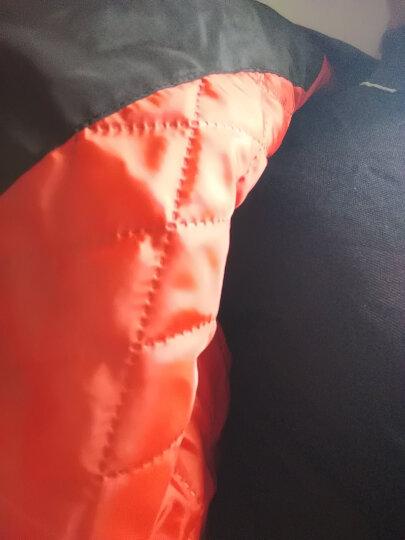 【@头号青年】楠笙记 连帽外套男加绒男生条纹夹克学生保暖外套男街舞衣服社会小伙网红同款外套嘻哈棒球服 黑色加绒加厚款 XL(尺码偏大建议拍小一码) 晒单图