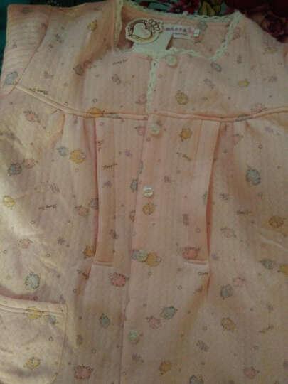 雅孕 纯棉月子服春夏季纱布哺乳衣孕妇睡衣喂奶衣产后孕妇月子装 蓝色 L 晒单图