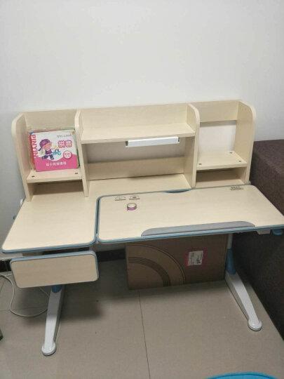 心家宜 儿童学习桌椅套装 儿童书桌 可升降多功能写字桌118CM 果绿色104-215 晒单图