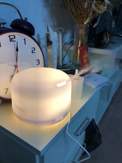 舒居(SHUJUHOME) 香薰机香熏灯 香氛室内房间卧室静音超声波专用香水精油加湿器 圆款500ML暖灯(送10ML精油2瓶) 晒单图