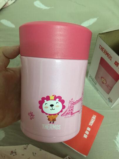 膳魔师正品儿童焖烧杯焖烧壶不锈钢真空保温饭盒粥桶TCLA 粉色卡通森碟图案 晒单图