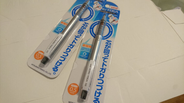 日本进口 三菱MITSUBISHI UNI 精密绘图/学生自动铅笔 可旋转芯按动活动铅笔 M5-4501P 银色 0.5mm 办公用品 晒单图
