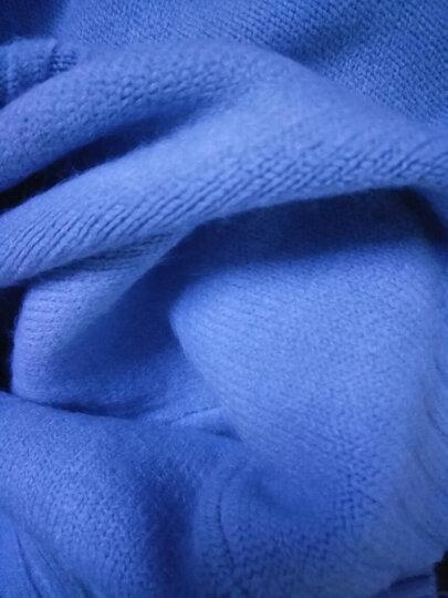 时愿 针织衫女2017秋冬新品韩版宽松中长款纯色高领套头加厚针织毛衣 LSF0107 蓝灰 均码 晒单图
