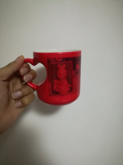 变色马克杯定做520礼物加热水显示图案神奇杯子可印照片的杯子 桃心黑色an 款式五 晒单图