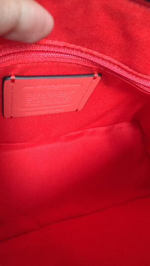 COACH 蔻驰 奢侈品 女士人造革小号手提肩背斜挎包贝壳包 F58295 SVC8O 卡其橘色 晒单图