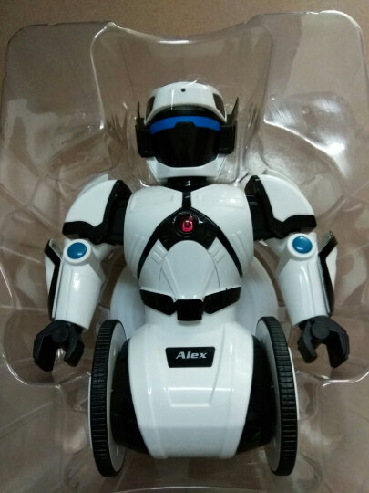 艾力克 智能机器人自动平衡智能玩具 儿童遥控电动对战跳舞机器人 白色 晒单图