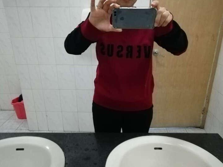 VERSACE/VERSUS范思哲/范瑟丝 女士红黑拼色混纺字母图案卫衣 BD90258 BJ20479 B2111 L码 晒单图
