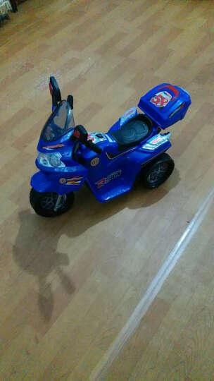 宝贝虎 新款童车摩托车儿童电动车三轮车宝宝电瓶车童车适合1-4岁小孩 宝蓝色 晒单图
