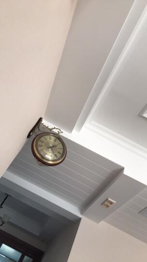 凯瑞蒂赫(kaiRuiDiHe) 欧式客厅两面挂表大号美式实木金属双面挂钟静音创意家用墙饰双面钟表 15004 晒单图