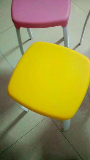 瑞帝凳子时尚创意彩色加厚凳子家用餐厅简易椅子餐椅高凳子彩色塑料凳子餐凳方凳 两个起售,下单一个不发货 蓝色 晒单图