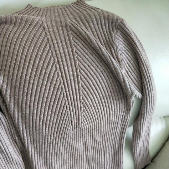 HMS红曼裳长袖针织衫女纯色毛衣厚款套头中高领纯色打底衫百搭女士秋冬装潮 魅力时尚款 晒单图