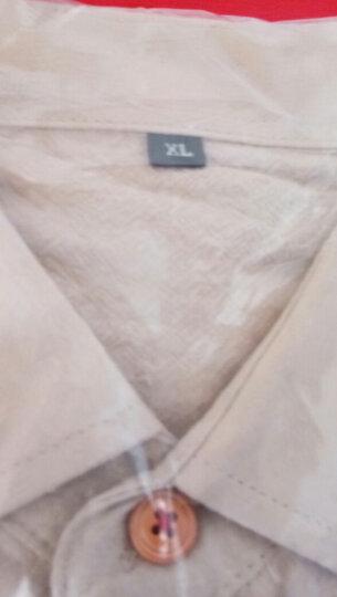世文  长袖衬衫男衬衣修身韩版打底衫青年商务纯色寸衫男上班职业工装 咖啡色 M 晒单图