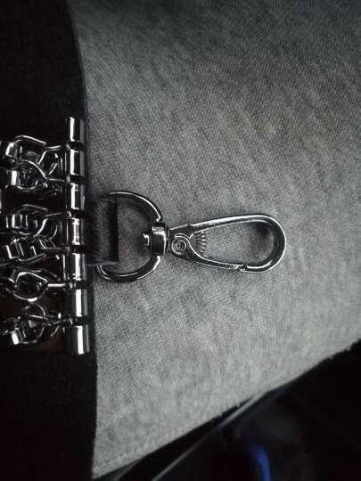 【一趣AFUN】钥匙包 男士牛皮腰挂钥匙扣 多功能车锁匙包 PU皮 褐色 晒单图