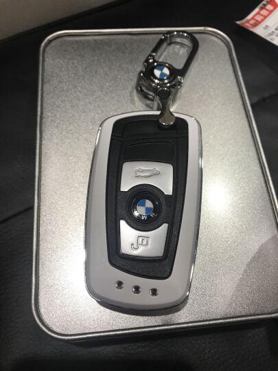 华饰 宝马钥匙包钥匙套 BMW新1系5系GT新3系4系2系7系新X3M5M6钥匙扣钥匙壳 TPU宝马智能深海蓝+编绳 宝马 晒单图