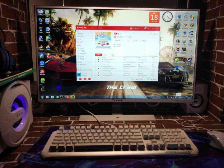 金河田(Golden field) Q8电脑音响多媒体蓝牙音箱电脑家用台式笔记本家用低音炮重低音 黑色蓝牙版 晒单图