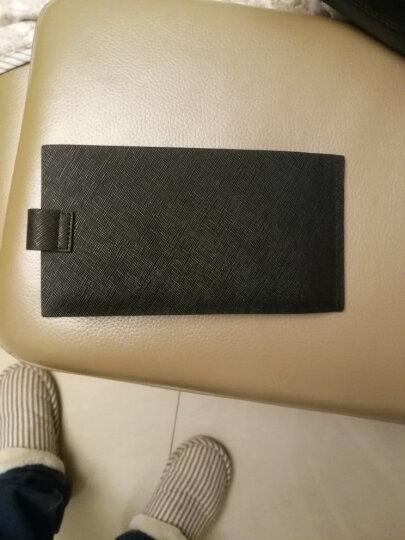 MUBREAD卡包男士长款牛皮银行卡包超薄多卡位钱包驾驶证套商务休闲名片夹卡夹卡套礼盒 时尚蓝 晒单图
